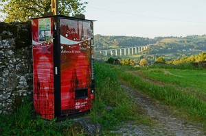 If you're thirsty, a soda machine suddenly appears in the countryside