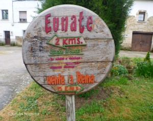 Eunate Sign