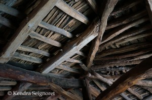 restored barn ceiling
