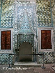 Harem - fireplace in sultan consort apartment