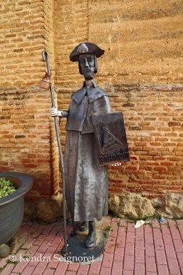 Sahagun pilgrim statue
