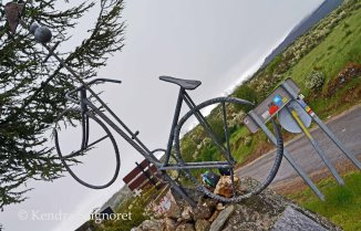 Bike statue