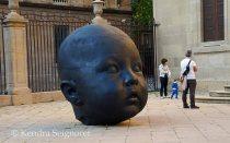 Giant baby head
