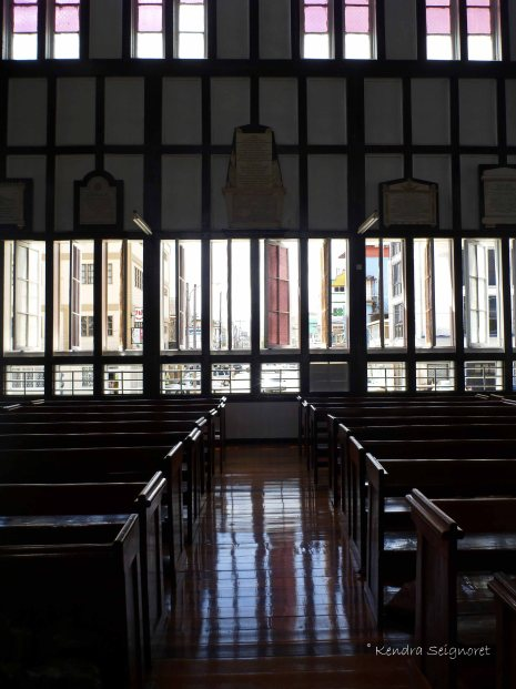 cathedral pews and windows
