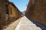 in between the city walls