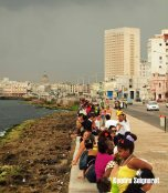 People along the Malecon