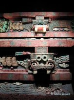 Restored portion of Teotihucan architecture showing the typical Mesoamerican use of red paint (1)