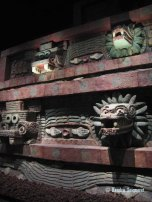 Restored portion of Teotihucan architecture showing the typical Mesoamerican use of red paint (2)