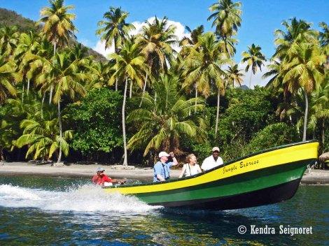 St. Lucia boat ride