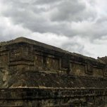 Monte Alban - details of pyramid