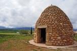 Poyo de Roldan - here is where Christian Roldan supposedly killed Muslim Ferragut, David-Goliath style (ie with a rock)