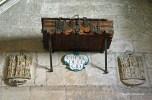 inside the Burgos Cathedral - el Cid's coffin