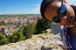 me at the Castillo and the view on Burgos