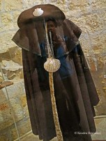 Reflected me against medieval pilgrim outfit