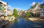 River in the town of Estella