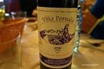 Fun wine at dinner