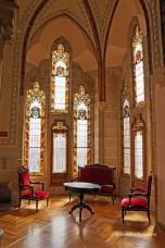 inside the Gaudi building in Astorga