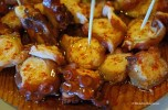 Pulpo, boiled octopus sprinkled with paprika