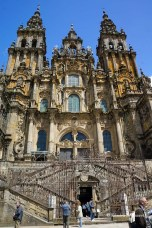 Cathedral of Saint-James (Santiago) - facade is 18th century
