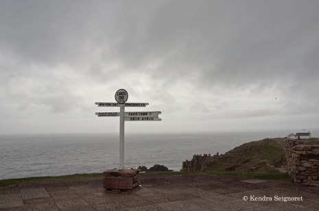 Land's End - tourist sign