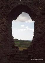 Launceston Castle - hole in the wall